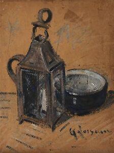 GUSTAVE-LOISEAU-DIE-LATERNE-OLD-MASTER-ART-PAINTING-PRINT-POSTER-1242OMA