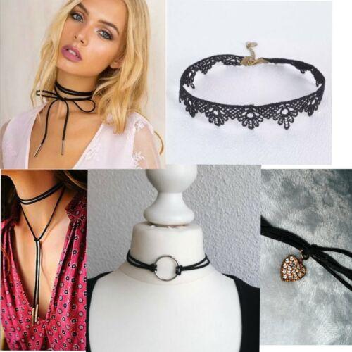 Women Black Velvet Flannel Chokers Necklaces Chocker Collar Necklace