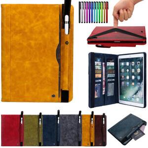PU-Leather-Auto-Smart-Case-w-Card-Pencil-Pocket-For-iPad-Mini-Air-Pro-9-7-6th