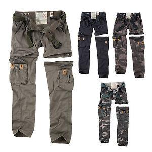 surplus raw vintage damen premium trekking cargo zip off hose shorts in einem ebay. Black Bedroom Furniture Sets. Home Design Ideas