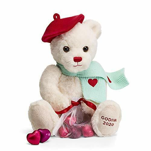 GODIVA Chocolatier Valentine/'s Day 2020 Limited Edition Plush Teddy Bear with