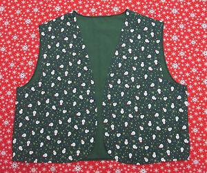 Noel-gilet-vert-avec-bonhommes-de-neige-robe-fantaisie-homme-femme-S-M-L