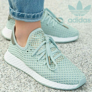 Details zu ADIDAS Deerupt Runner Sneaker Damenschuhe Turnschuhe Türkis  Damen Top B37680