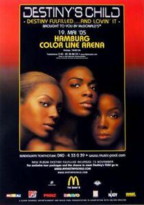 DESTINY'S CHILD - 2003 - Konzertplakat - Beyonce - Tourposter - Hamburg - Oberhausen, Deutschland - DESTINY'S CHILD - 2003 - Konzertplakat - Beyonce - Tourposter - Hamburg - Oberhausen, Deutschland