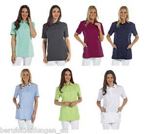 Leiber-Polo-Schlupfjacke-T-Shirt-Kasack-60-C-Schwester-Pfleger-Kittel-2546