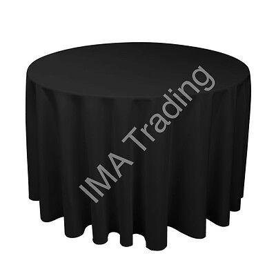 Black Round Table Cloth 305cm, 120 Inch, 220gsm Spun Polyester Table Cloth Merci Di Convenienza