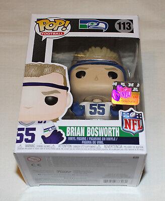 FunK0 Pop Brian Bosworth The Boz #113 Vinyl Figure Bundled with Pop Protector NFL Legends: Seattle Seahawks