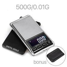 500g 0.01 Digital Pocket Scales Jewellery Electronic Milligram Micro MG
