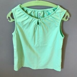 LANDS-039-END-Girls-Cotton-Tank-Small-Mint-Green-So-Cute-EUC