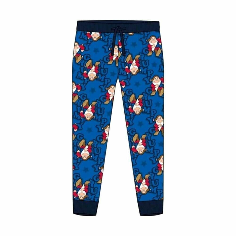 Men's Disney Grumpy Print Cuffed Lounge Pants Pyjama Bottoms - Nightwear
