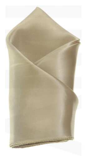 Mens Champagne Gold Silky Satin Tie Or Handkerchief Or Cufflinks Or Full Set