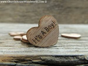 100-qty-1-034-It-039-s-A-Boy-Wood-Hearts-Table-Confetti-Wooden-Wedding-Decor