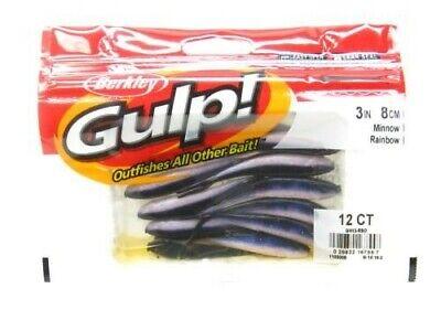 "Berkley Gulp Scented Minnow Fishing Soft Bait 4/"" Rainbow 8//Pack 1115865"