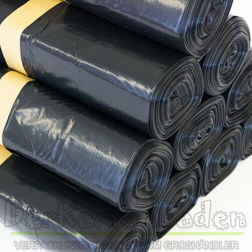 50 Stück LDPE Müllsäcken Schwarz 240 Liter Müllbeutel aus Polyethylen