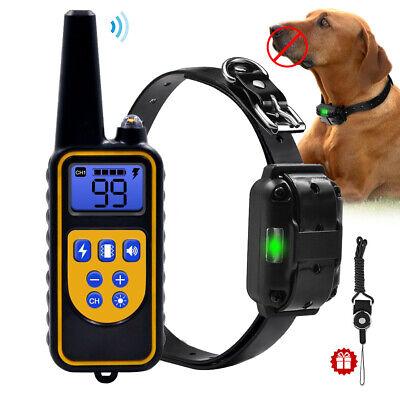 Dog Shock Training Collar LED Rechargeable Waterproof Pet Dog No-Bark E- Collar | eBay