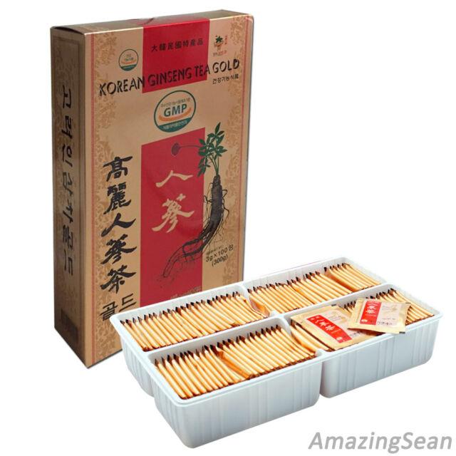 Korea Ginseng Tea 100 Bags, 50 Bags Anti-aging & Anti Stress Korean Ginseng Tea