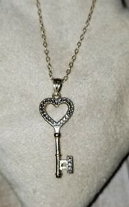 139abb9ed Kay Jewelers Kays 10k Yellow White Gold heart antique key Pendant ...