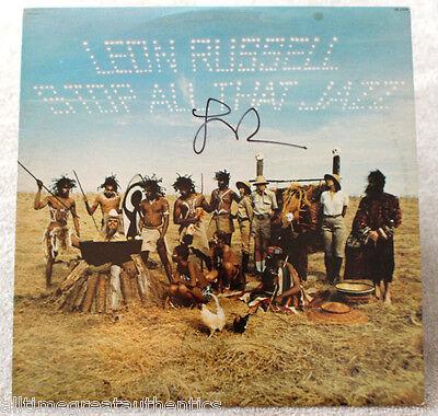 Records The Cheapest Price Leon Russell Hand Signed Authentic Record Album Lp E W/coa Rock Blues Legend Delicious In Taste Autographs-original