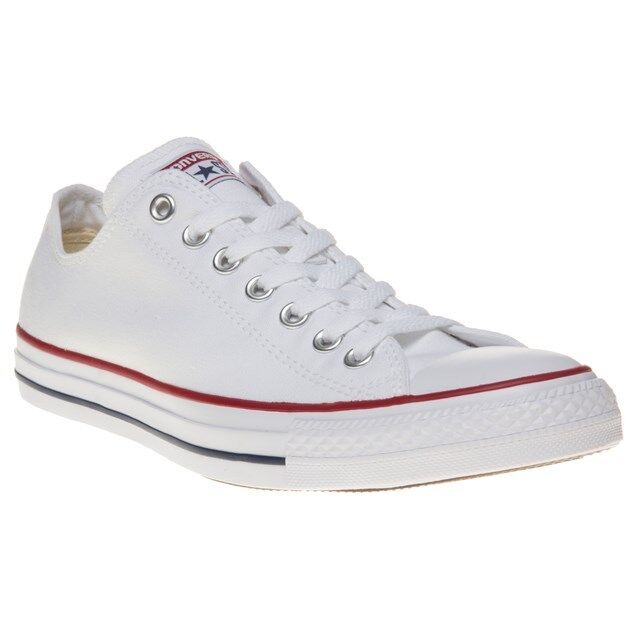 New Mens Converse White All Star Ox Canvas Trainers Lace Up
