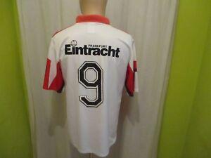 Eintracht-Frankfurt-Original-Puma-Trikot-1992-93-034-ohne-Sponsor-034-Nr-9-Gr-M