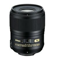 Nikon Af-s Micro 60mm F/2.8g Ed N W/free Hoya Uv Filter