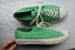 33f9b373b Image is loading Unisex-Green-Canvas-CONVERSE-Jack-Purcell-Laced-Sneakers-