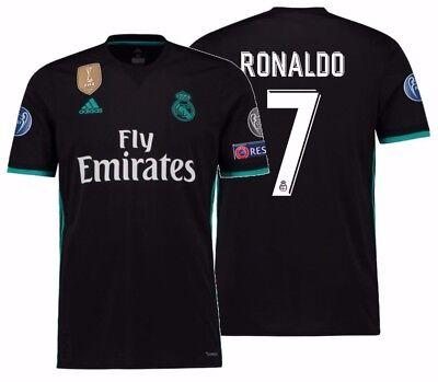 100% authentic 43559 f48c9 ADIDAS CRISTIANO RONALDO REAL MADRID UEFA CHAMPIONS LEAGUE AWAY JERSEY  2017/18. | eBay