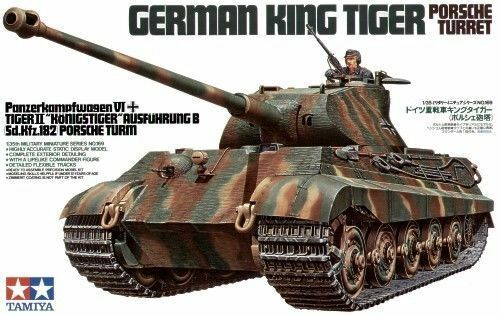Tamiya German King Tiger Porsche Turret Tower Tank 1 3 5 Kit 35169
