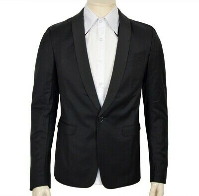 Adidas Shawl Jacket Blazer Sakko Anzug Schurwolle Jacke Business Herren Schwarz Durchsichtig In Sicht