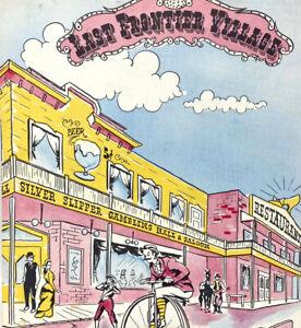 Vintage 1950s Last Frontier Village Restaurant Menu Las Vegas Nevada