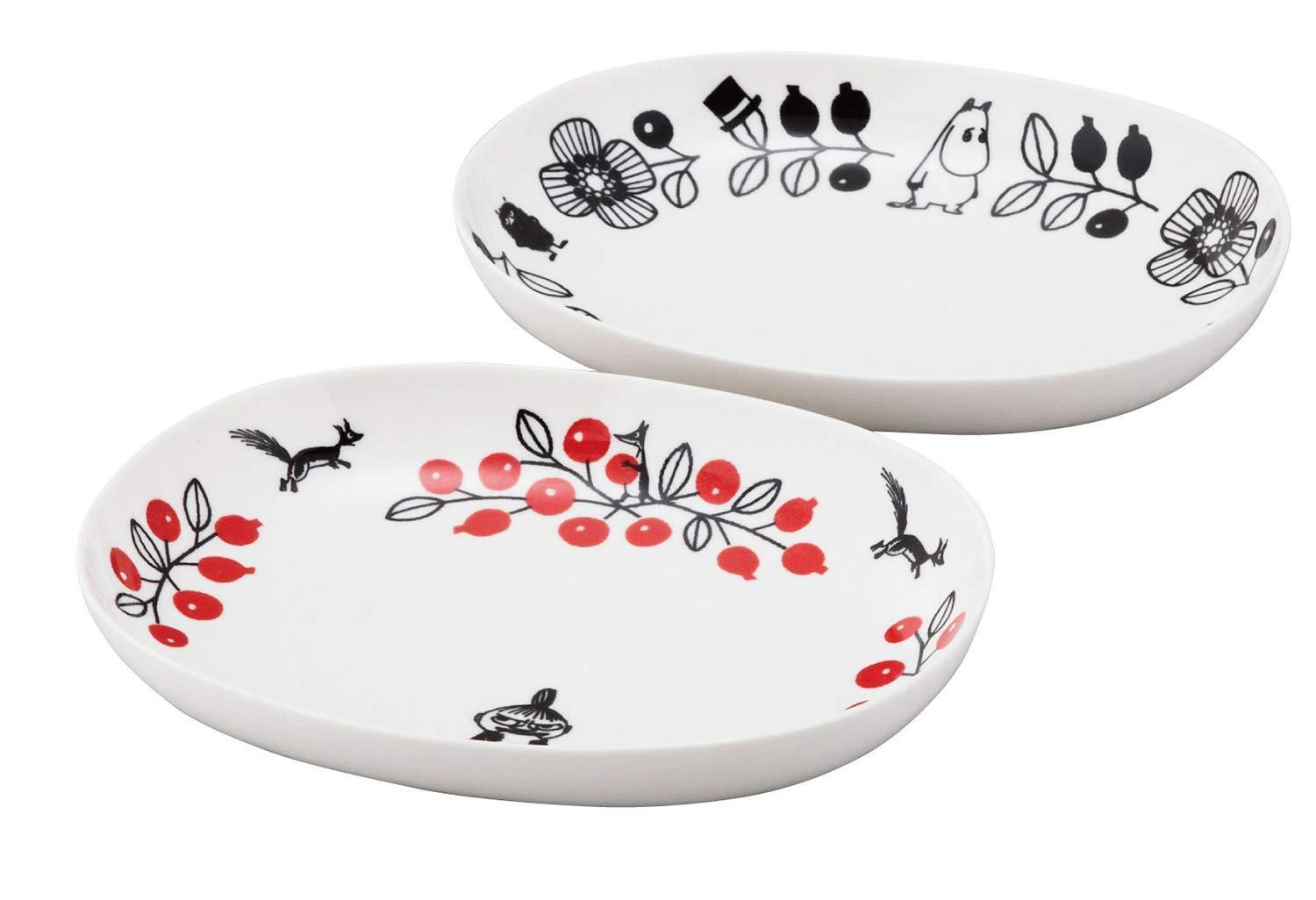 Moomin Valley Pair Oval Bowl MM1400-150 240mm Little My Yamaka from Japan