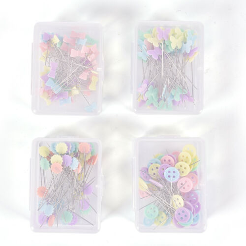 50 X Patchwork Pins Flower Button Head Pins DIY Quilting Tool Sewing AccessoryFE