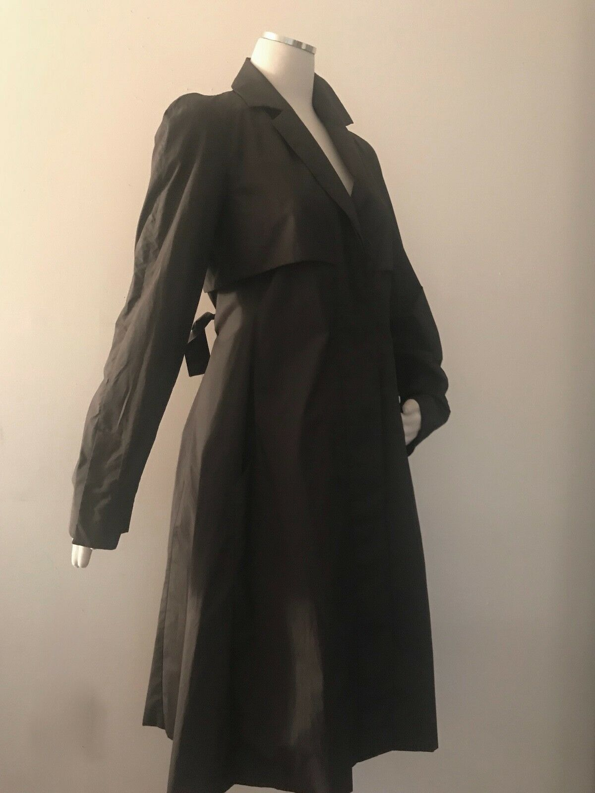 Narciso Narciso Narciso Rodriguez Women's brown trench coat Midi size 6 8 S  42  Fit&Flare 72b678