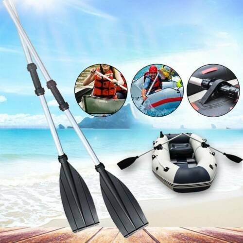 1 Pair Durable Aluminium Telescopic Kayak Paddles Join Together For Boat Oars UK