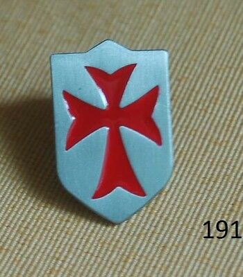 Ritterorden Kreuzritter Templer Schild Pin Anstecker Badge Buttopn Top # 191