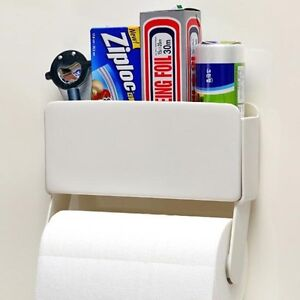 Image Is Loading Kitchen Paper Towel Holder Amp Storage Rack Magnetic