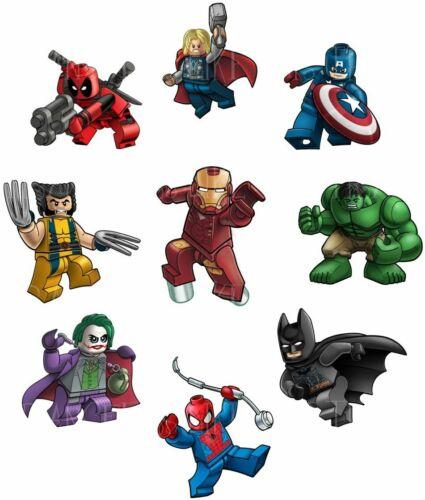 LEGO SUPER HEROES BATMAN IRON MAN THOR TRANSFERT TEXTILE VETEMENT T-SHIRT