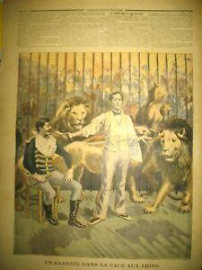 VOITURES-SANS-CHEVAUX-AUTOMOBILES-DOMPTEUR-BARBIER-LIONS-LE-PETIT-JOURNAL-1894