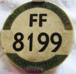 Vente Pas Cher Psv Public Service Vehicle Conductor Bus Badge
