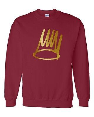 BORN SINNER J.COLE GOLD Crewneck Sweatshirt  hip hop rep ovoxo xo Sweatshirt