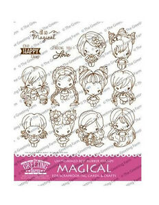 Magical kit the greeting farm cling rubber stamp stamping craft bean image is loading magical kit the greeting farm cling rubber stamp m4hsunfo
