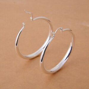 Women-Gorgeous-925-Silver-Hoop-Earring-Wedding-Dangle-Earrings-Jewelry