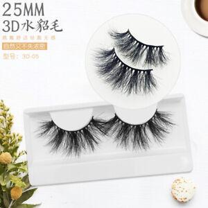 680101e1feb Mikiwi 25mm Long 3D mink lashes extra length mink eyelashes Big ...
