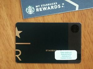 Details About Starbucks Reserve Black Card R And Star Gift Card Serial 6141 Thailand 2018