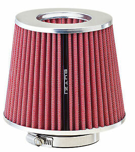Butzi-Universal-Car-Open-Induction-Kit-Stream-Air-Filter-with-Adaptors-Red-Pink