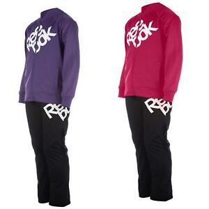 b8b0f04da37fc Enfants Reebok Décontracté Rose Bas de Jogging Violet Survêtement ...