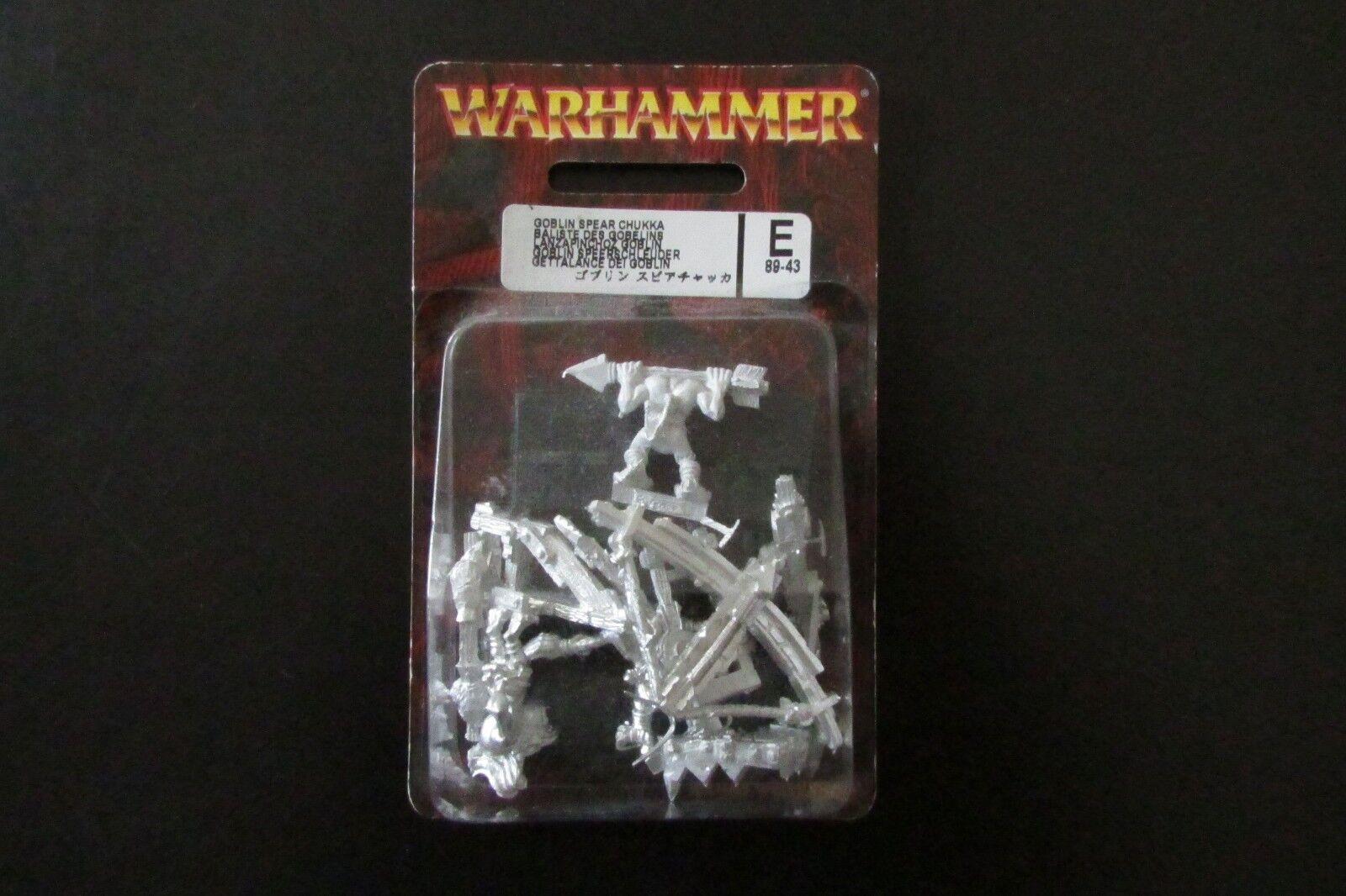 OOP Citadel   Warhammer Metal Chaos Goblin Spear Chukka BNIB