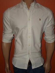 Polo ralph lauren oxford white shirts standard fit s m l for 6xl ralph lauren polo shirts