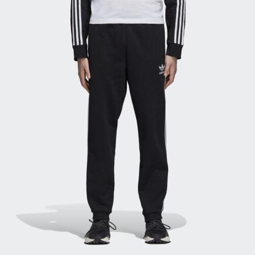 New Men ADIDAS Originals 3-Striped Sweat Pants Black////White DH5801