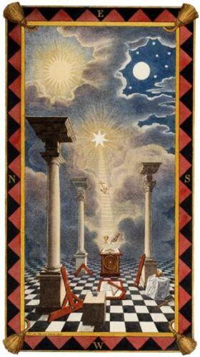 Masonic Entered Apprentice art print poster Trestle Tracing Board Chart Mason